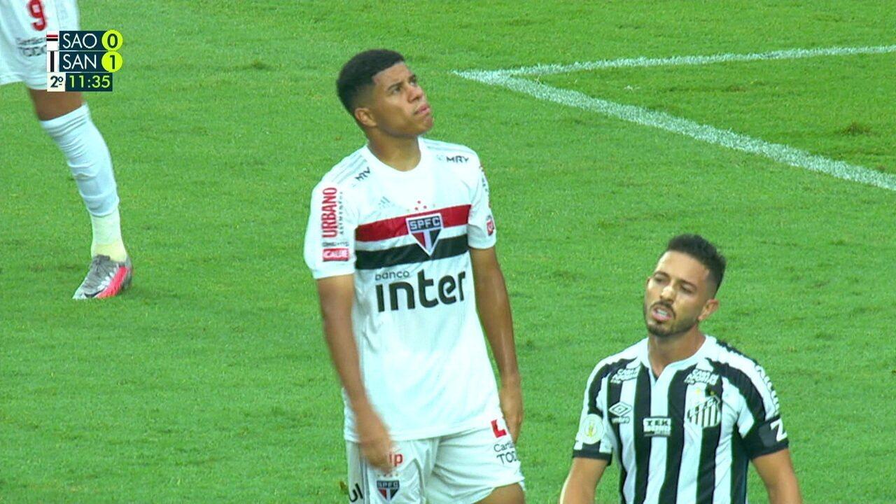 Melhores momentos de São Paulo 0 x 1 Santos pelo 29º rodada do Campeonato Brasileiro