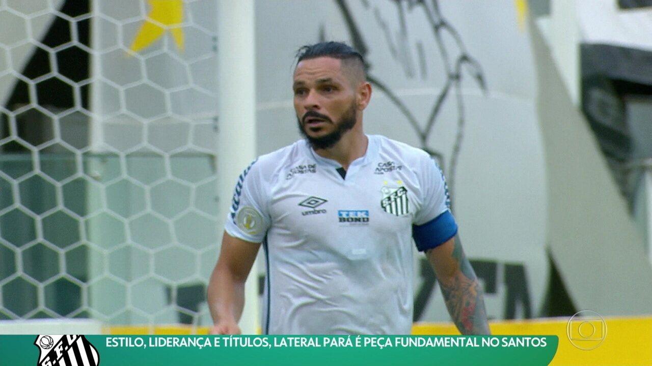 Estilo, liderança e títulos: lateral Pará é peça fundamental no Santos