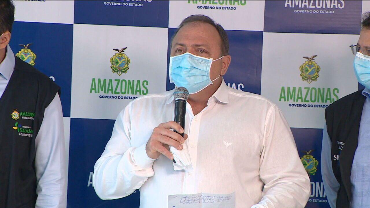 Pazuello: novo surto no Amazonas foi 'situação desconhecida'