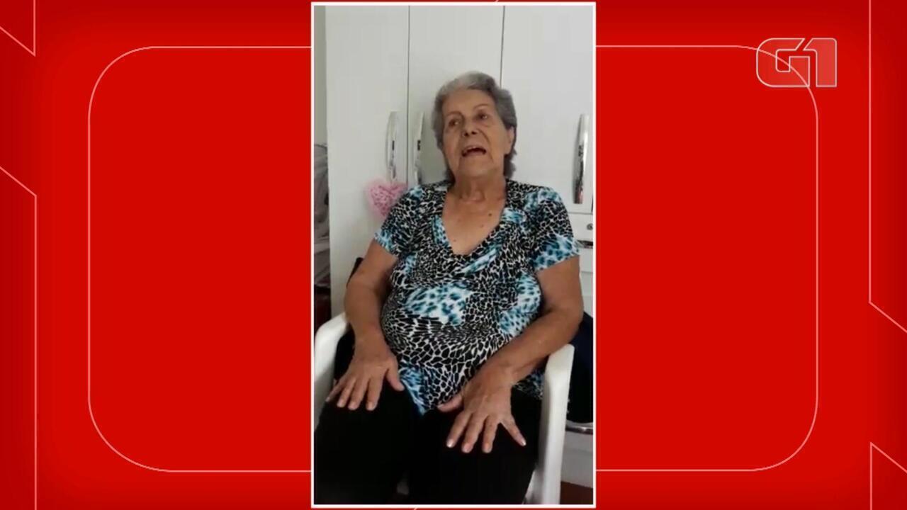 Idosa de ILPI em Florianópolis fala sobre o que sentiu ao ser vacina contra a Covid-19