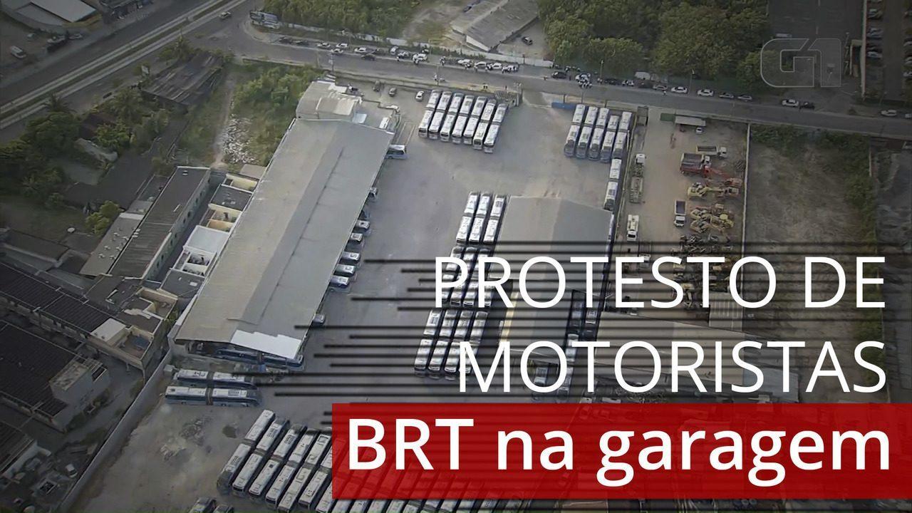 VÍDEO: motoristas fazem paralisação e BRT não circula no Rio