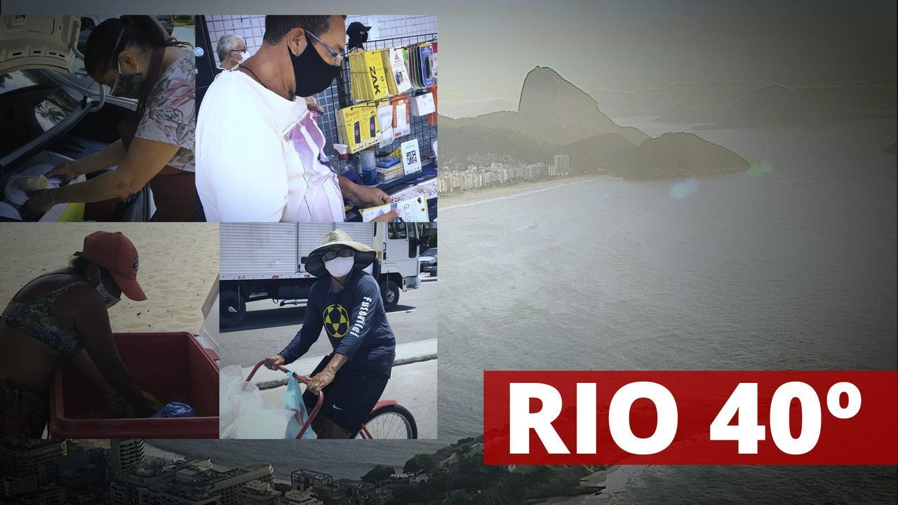 Rio 40º: vendedores sofrem com calor intenso na cidade