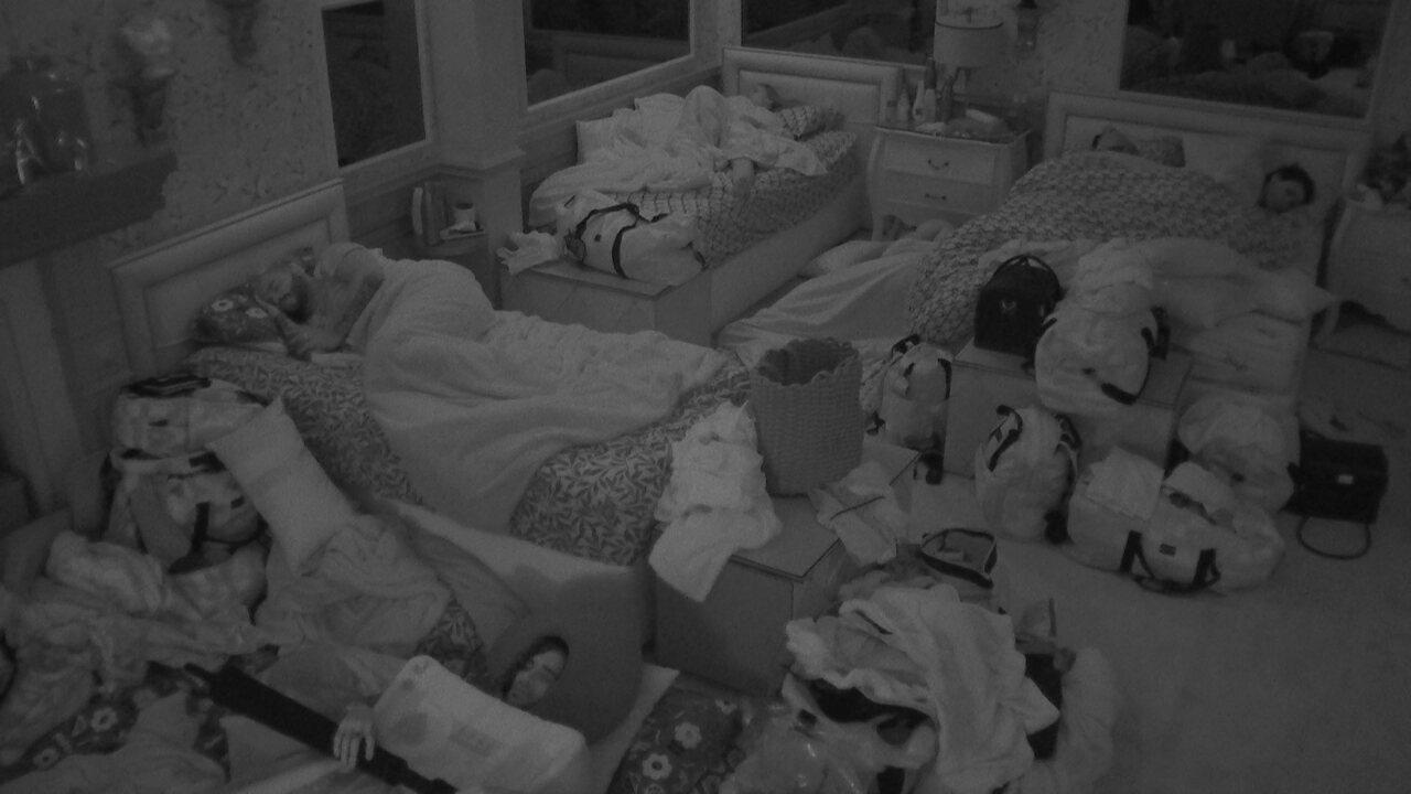 Após madrugada de conversas sobre o jogo, todos dormem na casa do BBB21