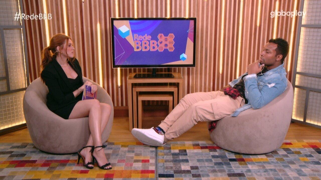 Bate-Papo BBB: Nego Di fala sobre ter perdido para Sarah no Paredão no BBB21