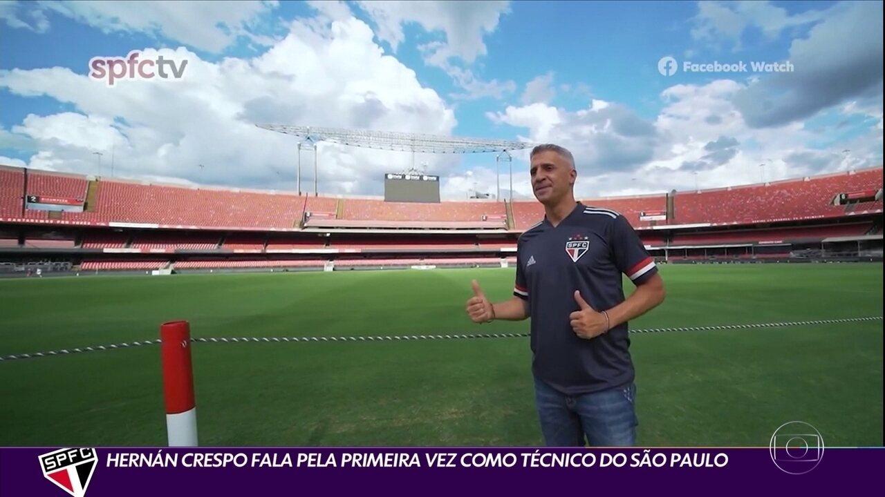 Hernán Crespo fala pela primeira vez como técnico do São Paulo