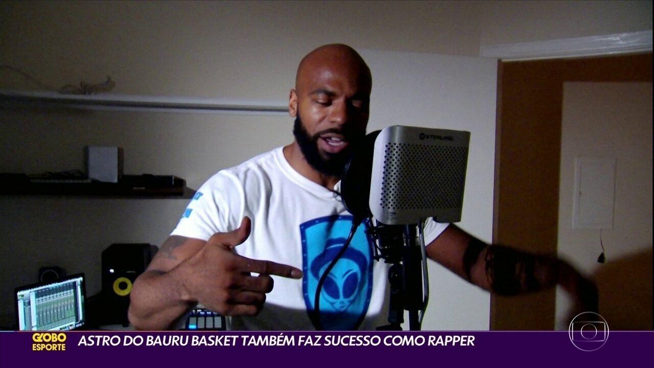 Astro do Bauru Basket também faz sucesso como rapper.