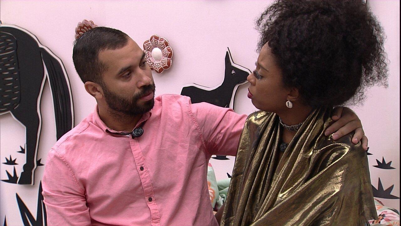 Lumena questiona ação de brother na formação do Paredão do BBB21