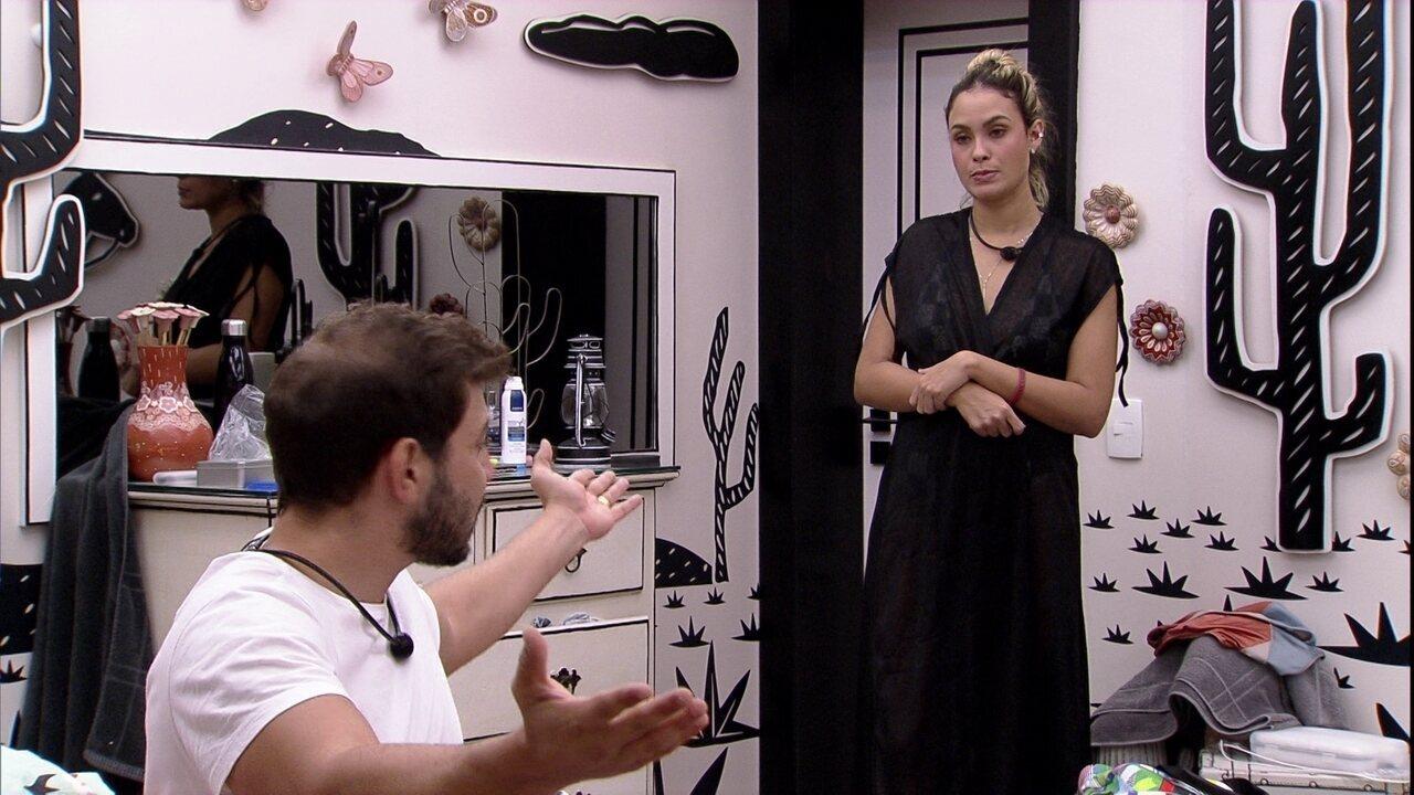 Caio segue falando sobre atitudes de Carla Diaz na casa do BBB21