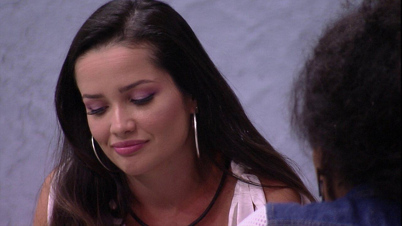 Juliette relata para Lumena após Jogo da Discórdia no BBB21: 'Você me trata diferente'