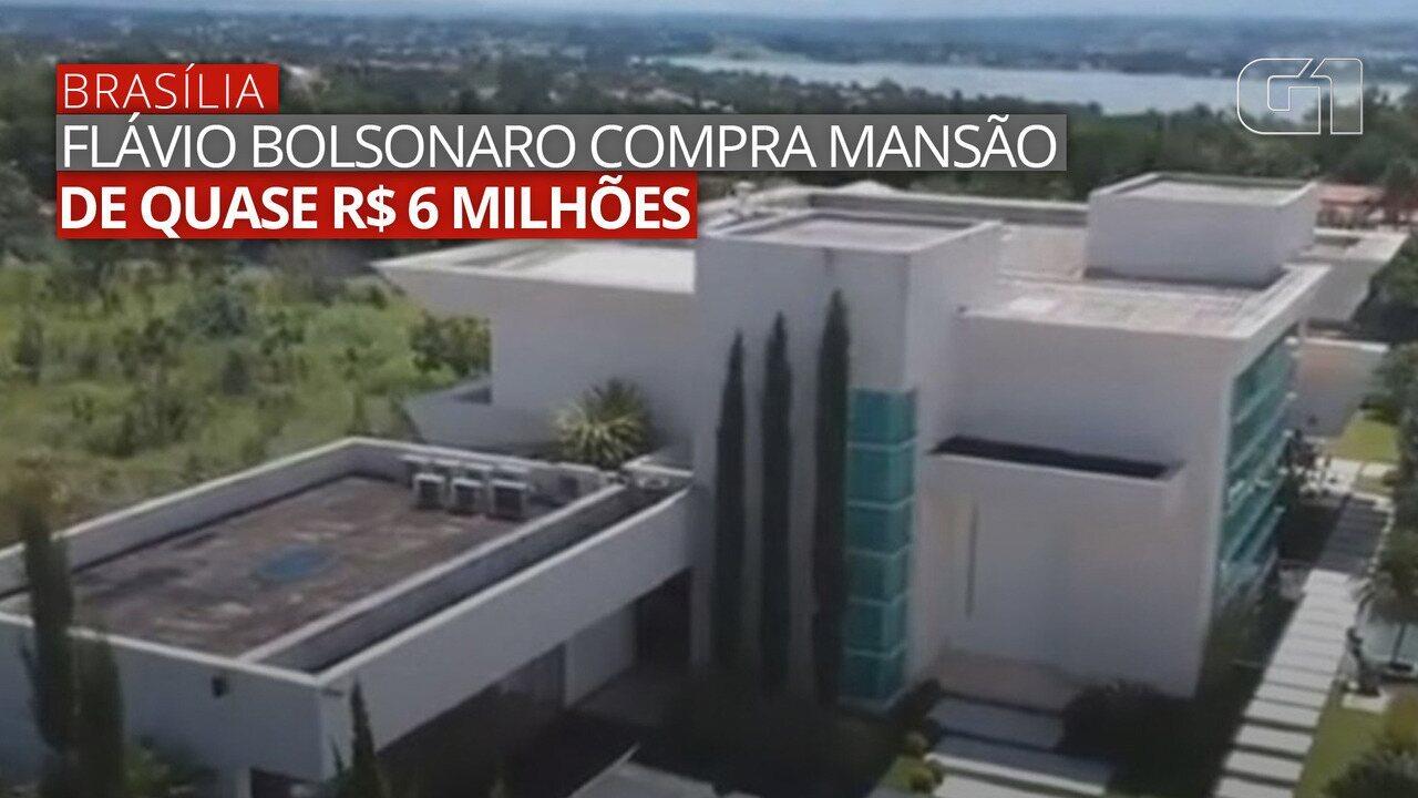 VÍDEO: Anúncio traz imagens da mansão comprada por Flávio Bolsonaro