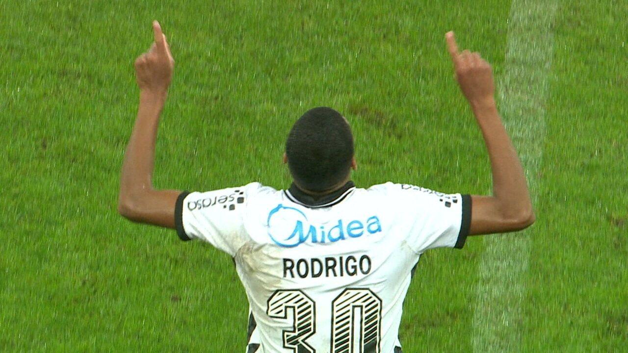 Veja o gol de Rodrigo Varanda contra o Palmeiras