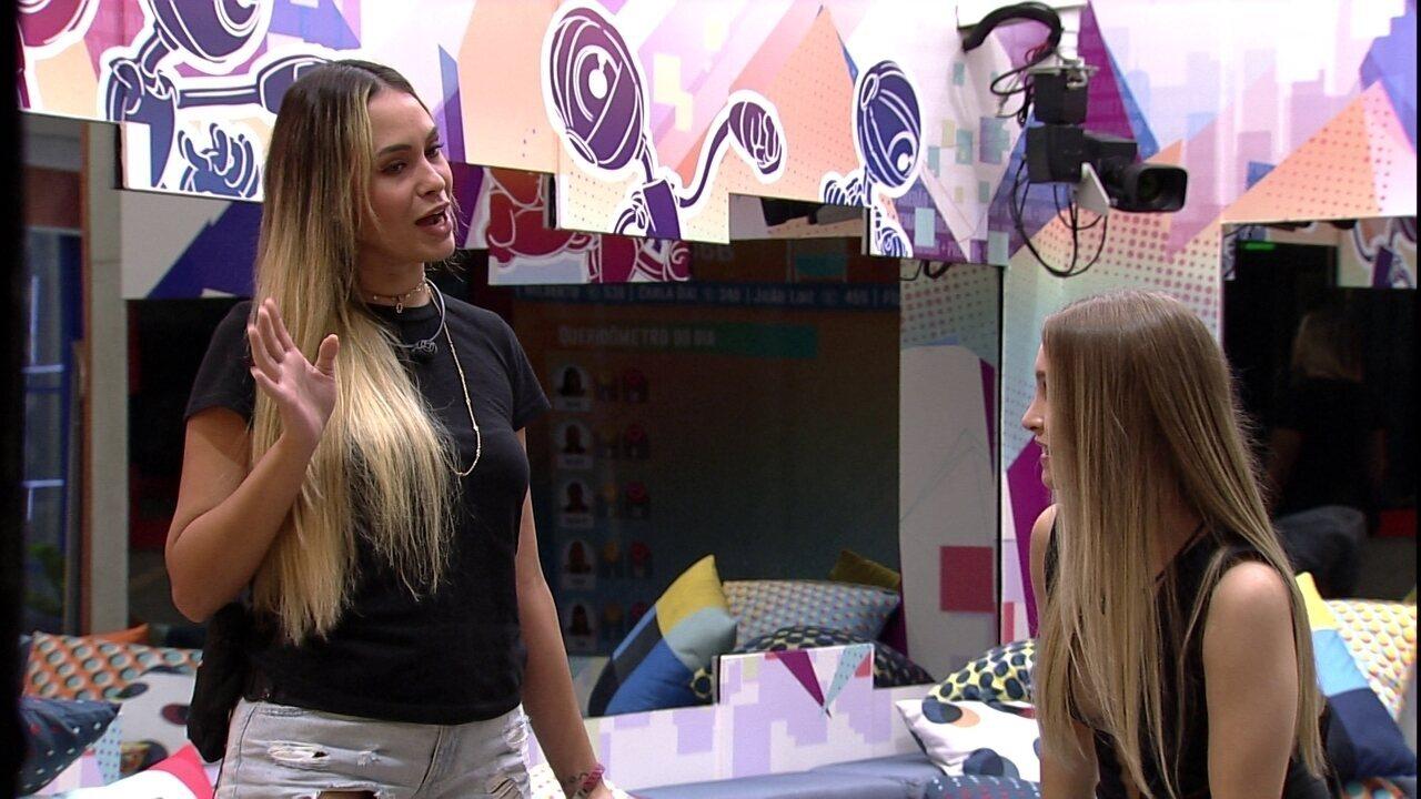 Carla Diaz questiona sister sobre Queridômetro no BBB21
