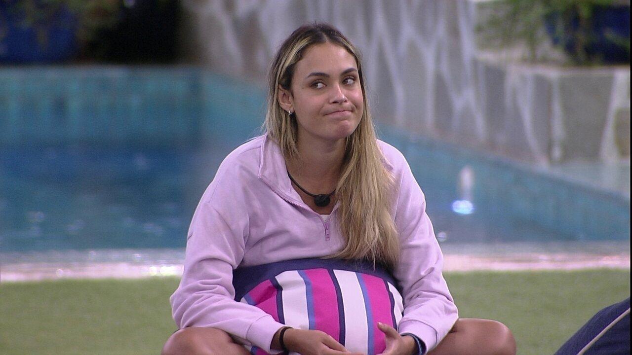 Sarah diz que está surpresa com sua postura no BBB21: 'Achei que eu fosse ser uma Juliette