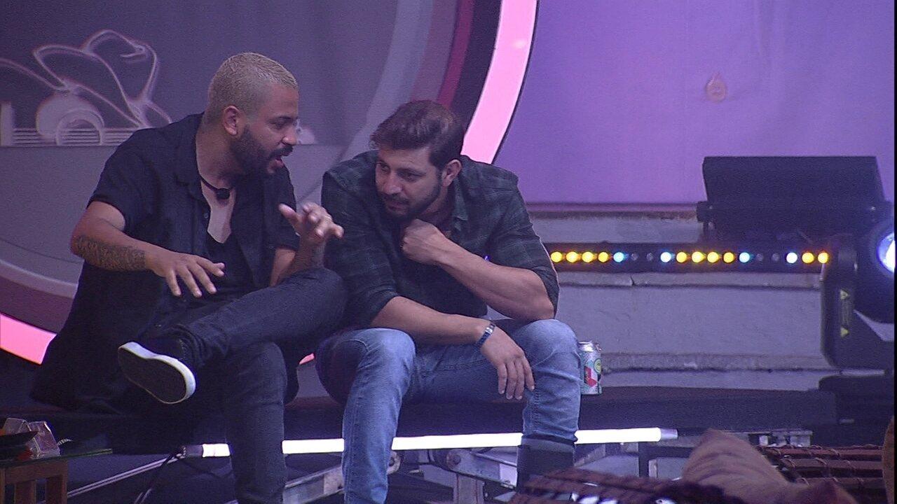 BBB21: Em conversa com Caio, Projota diz sobre Fiuk: 'Ele perdeu muitos pontos'