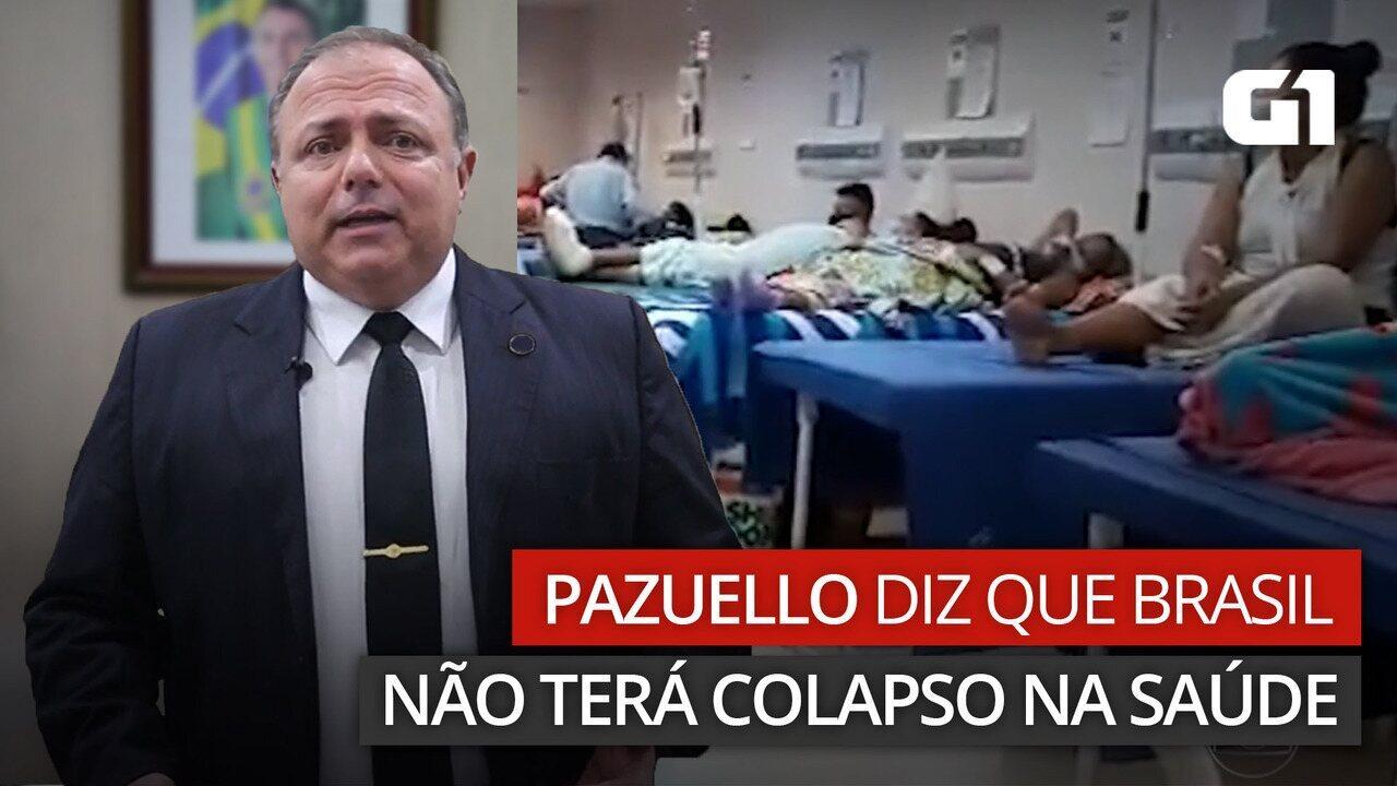 Pazuello diz que Brasil não terá colapso na Saúde e reduz pela 5ª vez previsão de vacinas