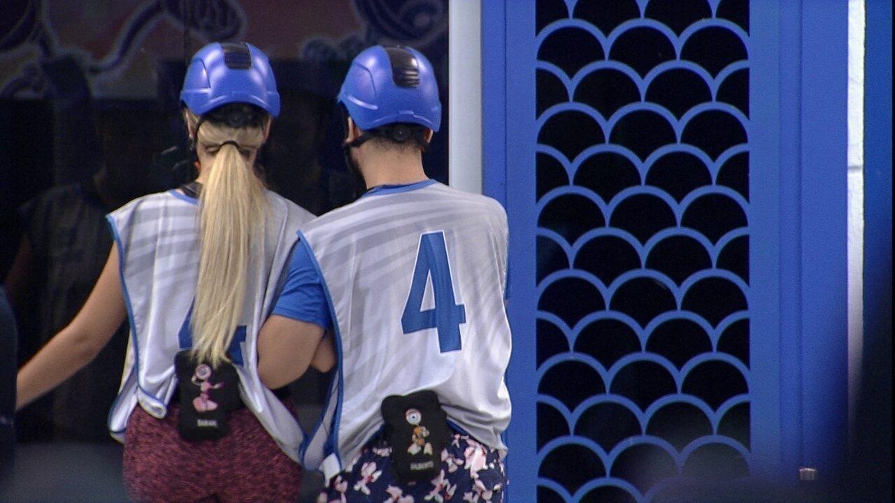 Gilberto e Sarah desistem da Prova do Líder no BBB21