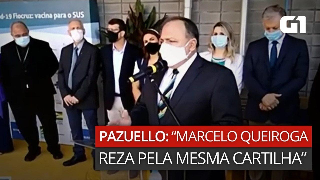 Pazuello diz que Marcelo Queiroga 'reza pela mesma cartilha'