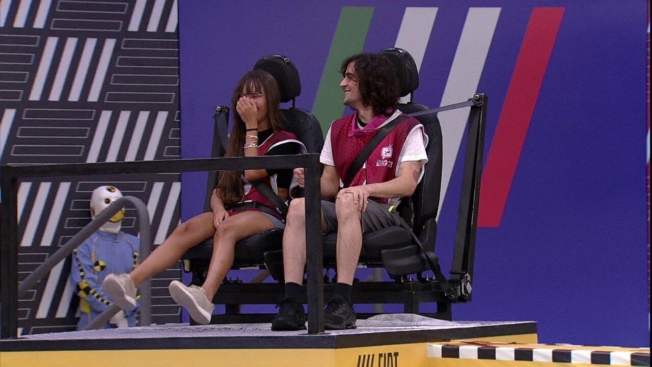 Fiuk brinca com Thaís em Prova do Líder, e sister responde: 'Você é ridículo'