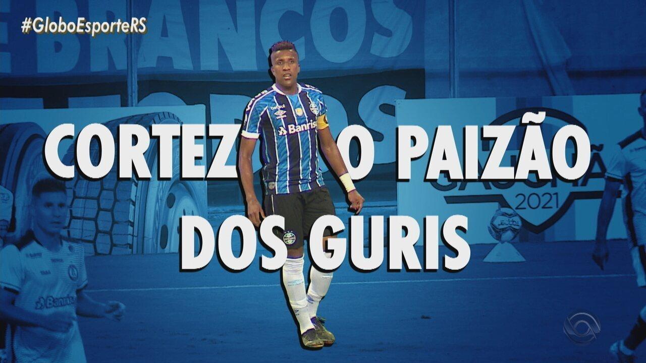 Paizão Cortez; lateral é o único veterano no grupo de garotos do Grêmio