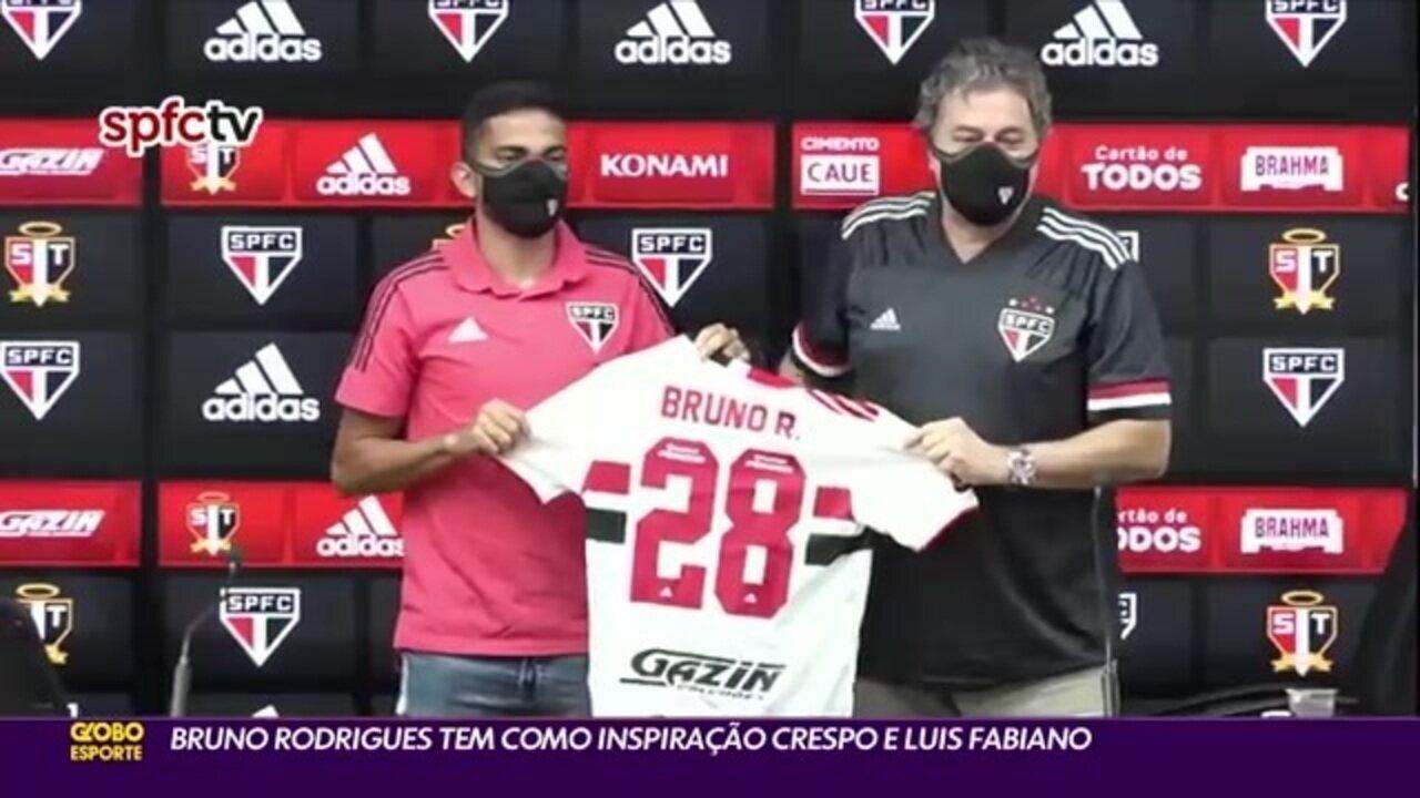 Bruno Rodrigues tem Hernan Crespo e Luís Fabiano como inspiração
