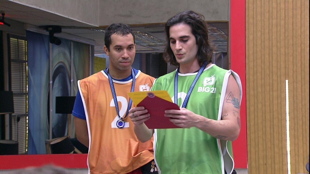 Gilberto e Fiuk escolhem Rodolffo e Caio para Castigo do Monstro