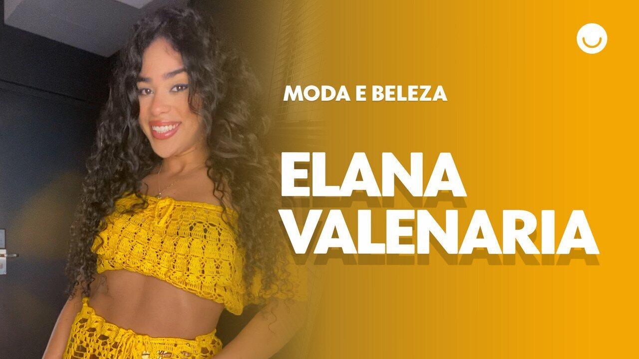 Elana, do 'BBB19', abre o guarda-roupa e mostra looks em crochê