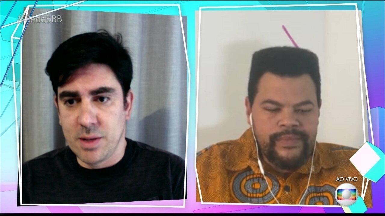 Marcelo Adnet comenta no Plantão BBB sobre desabafo de João Luiz