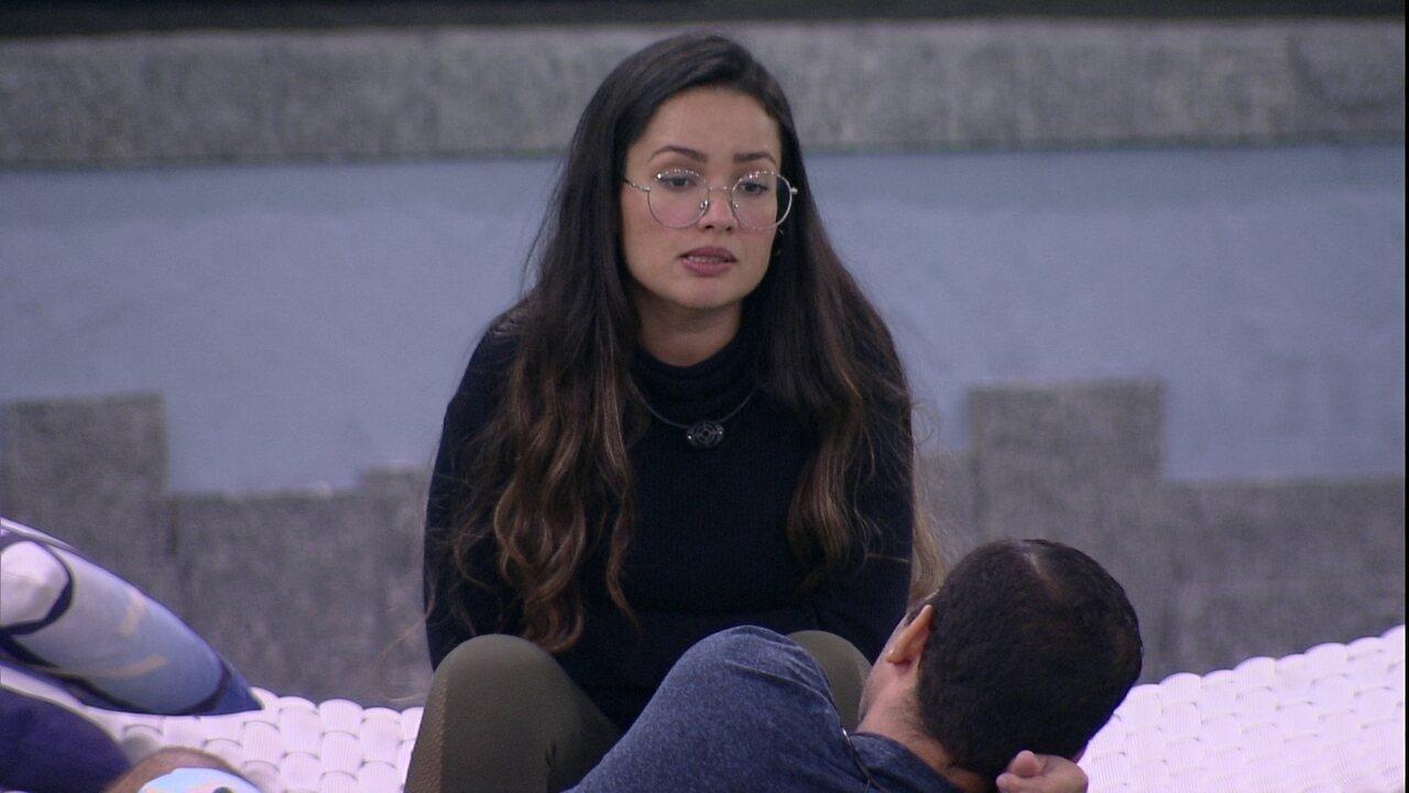Juliette garante a Gilberto no BBB21: 'Eu não voto em você'
