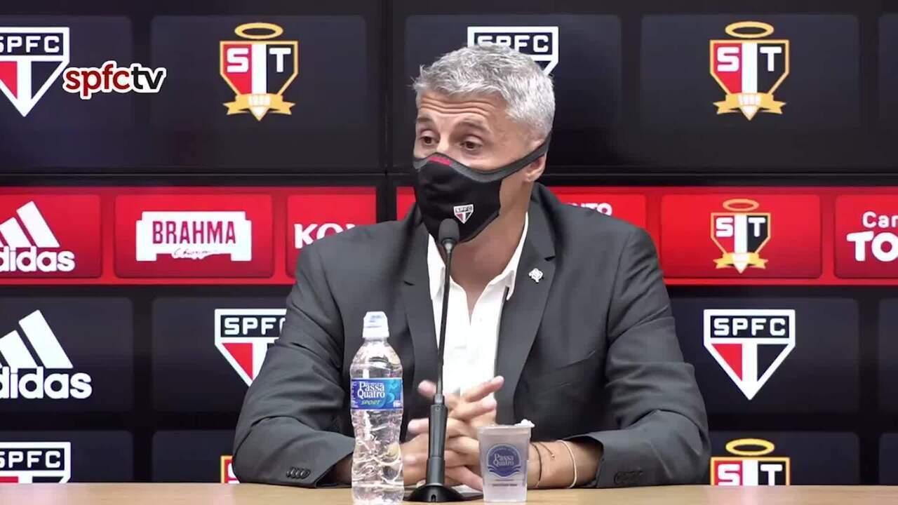 Veja a entrevista coletiva de Hernán Crespo, técnico do São Paulo, após goleada sobre o São Caetano