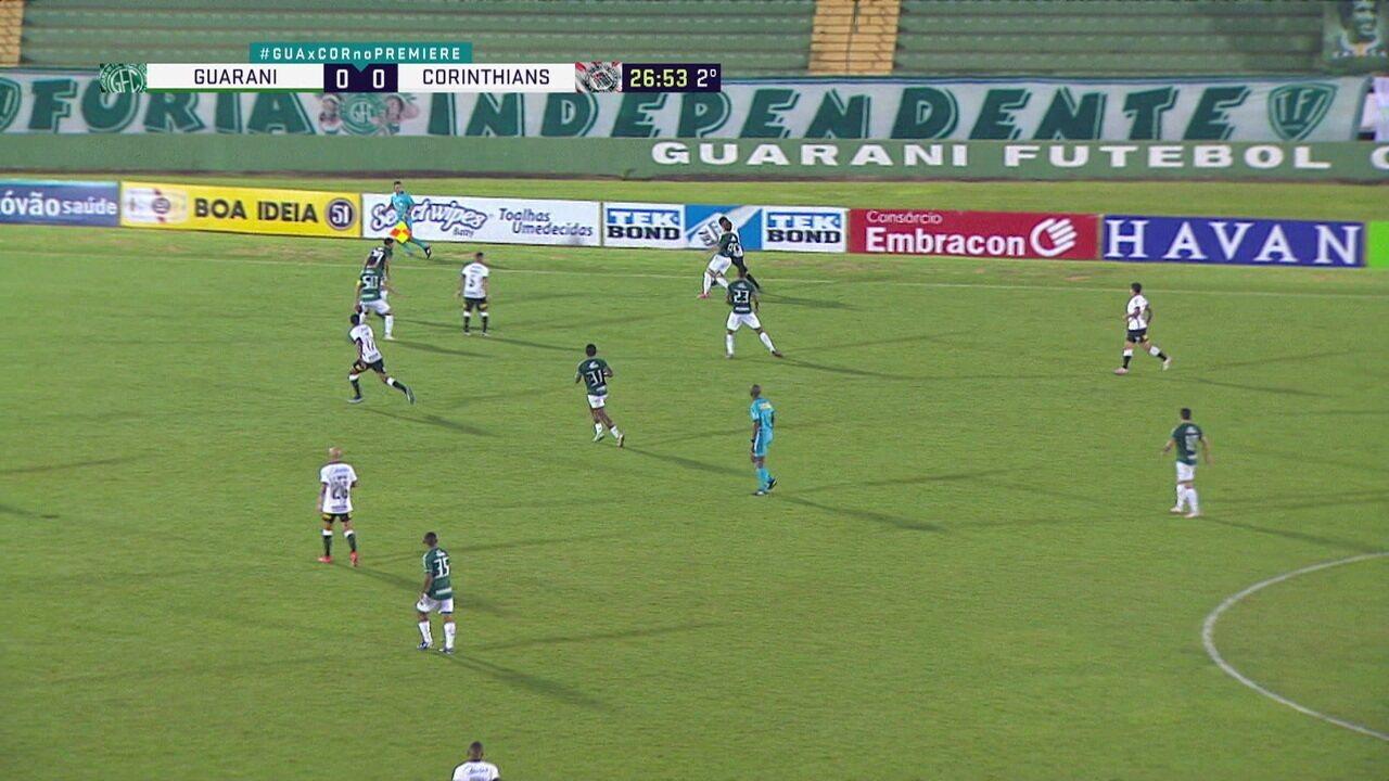 Melhores momentos: Guarani 0 x 1 Corinthians, pela 11ª rodada do Paulistão