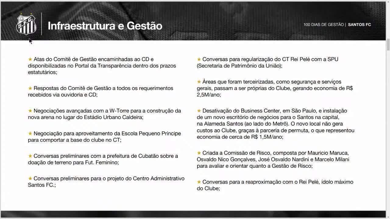 Presidente do Santos fala sobre construção de arena no lugar da Vila Belmiro