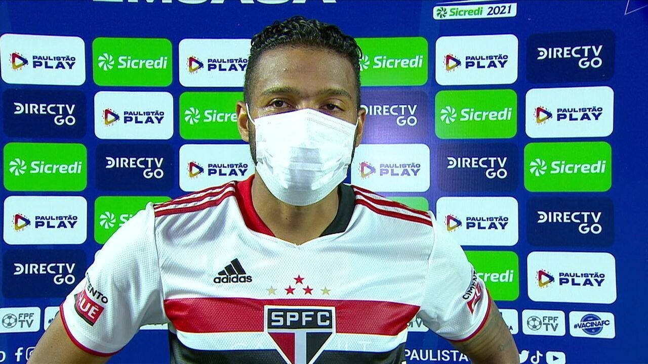 """Reinaldo comenta sobre a partida: """"Creio que foi uma partida muito boa da nossa equipe, principalmente na marcação."""""""