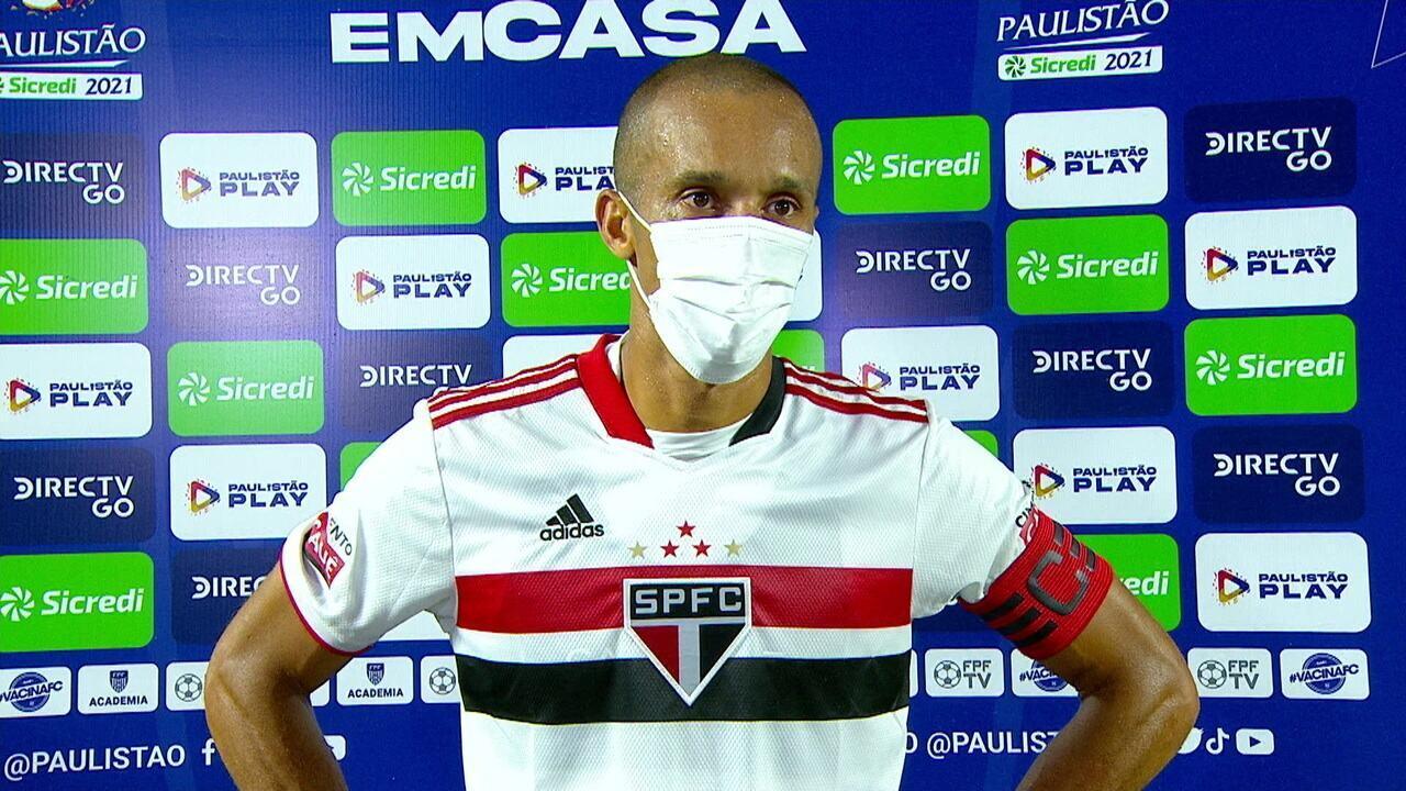 """Miranda fala sobre retorno ao São Paulo e afirma: """"Esforço não vai faltar para voltar a ser campeão"""""""