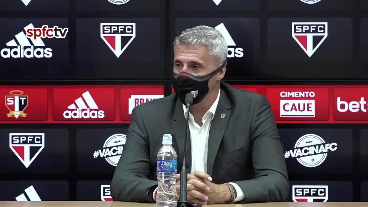 Veja a coletiva de Crespo, técnico do São Paulo, após a vitória sobre o Guarani