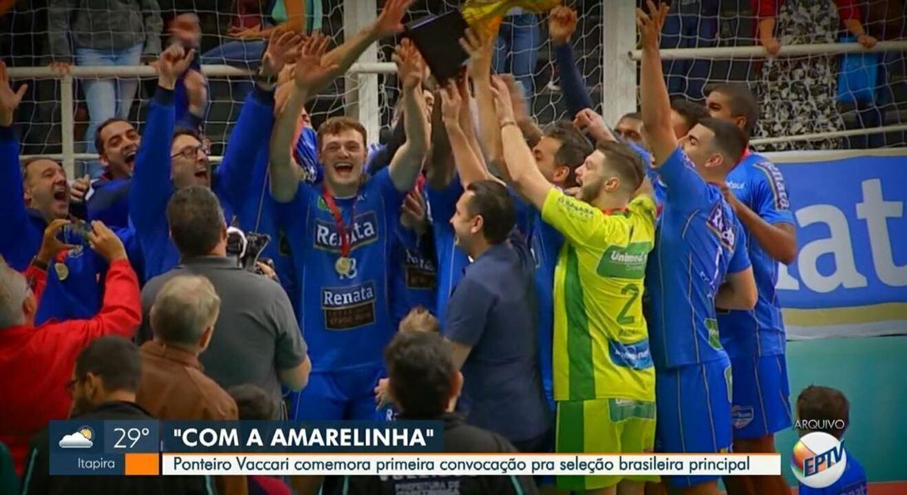 Pela 1ª vez, Ponteiro Vaccari é convocado para a seleção brasileira principal