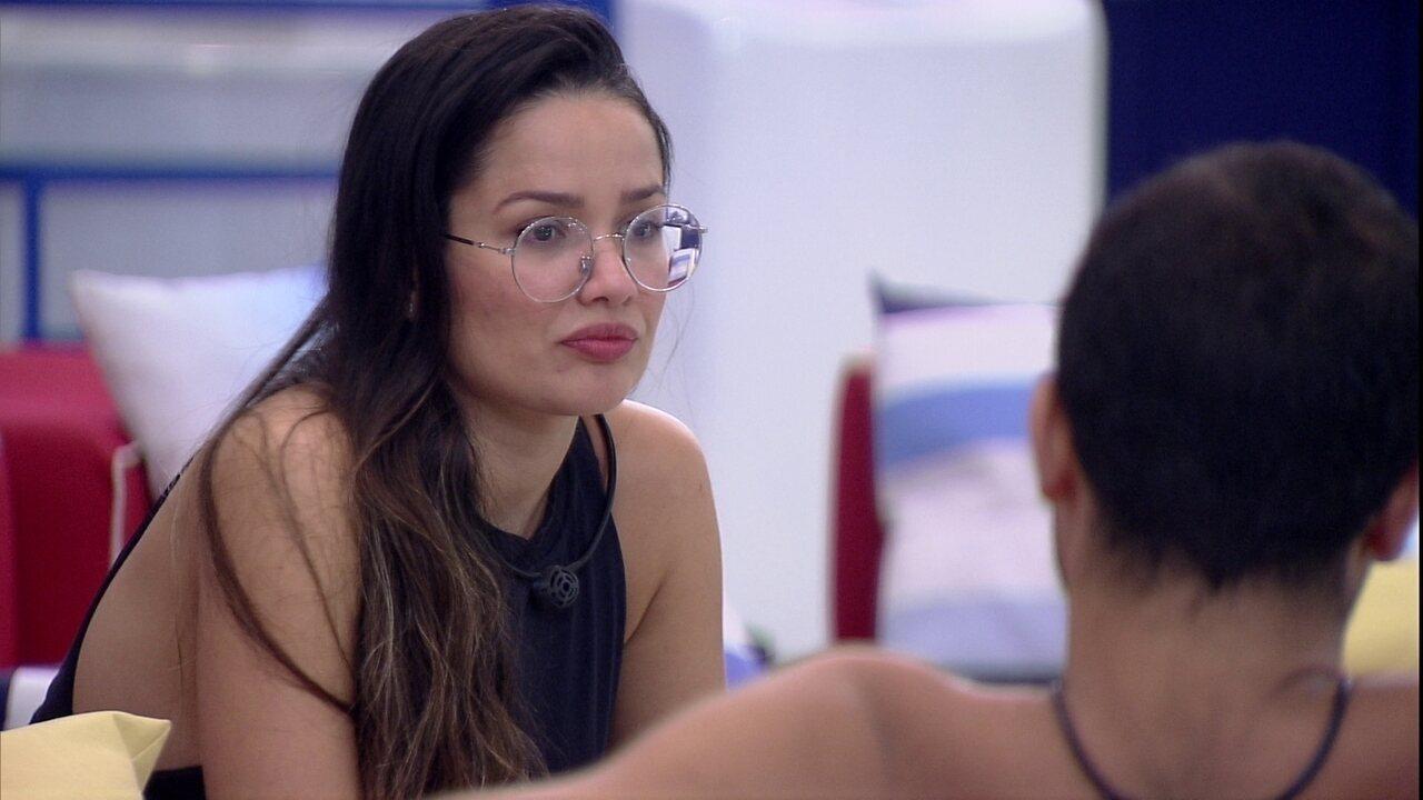 Juliette especula sobre votos com Gilberto e afirma: 'Caio vai querer minha cabeça'