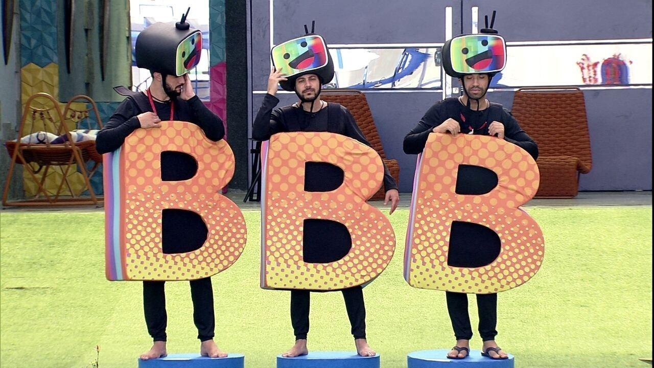 Trio de brothers cumprem o Castigo do Monstro nesta manhã no BBB21
