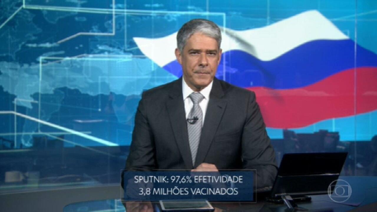 Vacina russa Sputnik apresenta efetividade de 97,6% na prevenção da Covid, segundo os desenvolvedores