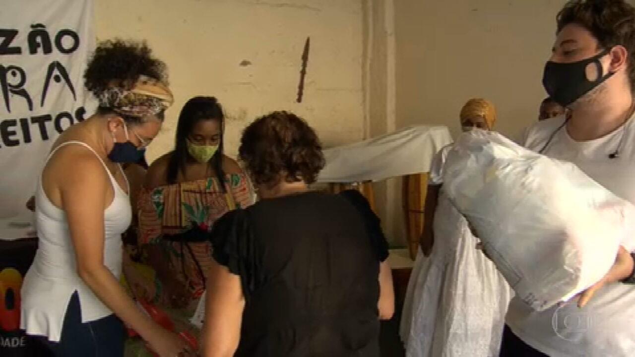 Campanha Tem Gente com Fome distribui alimentos em Belo Horizonte
