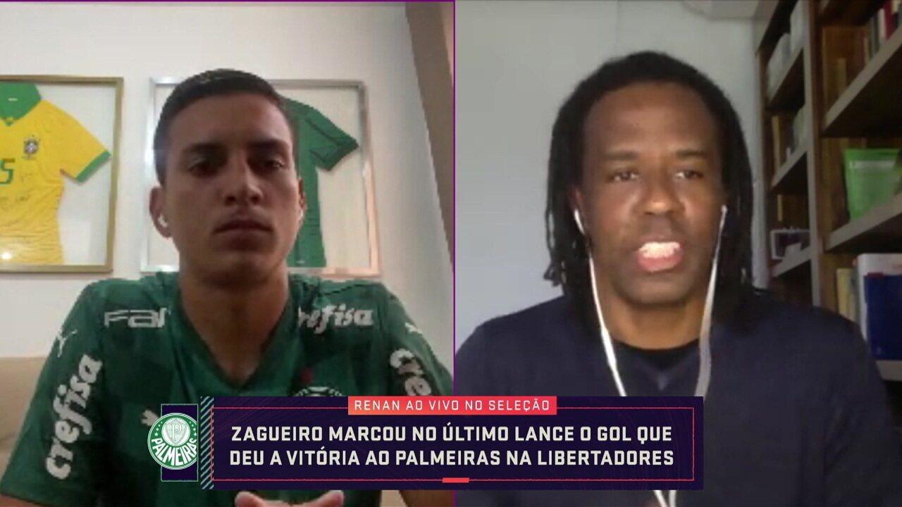 Renan fala sobre gol que garantiu a vitória do Palmeiras na Libertadores