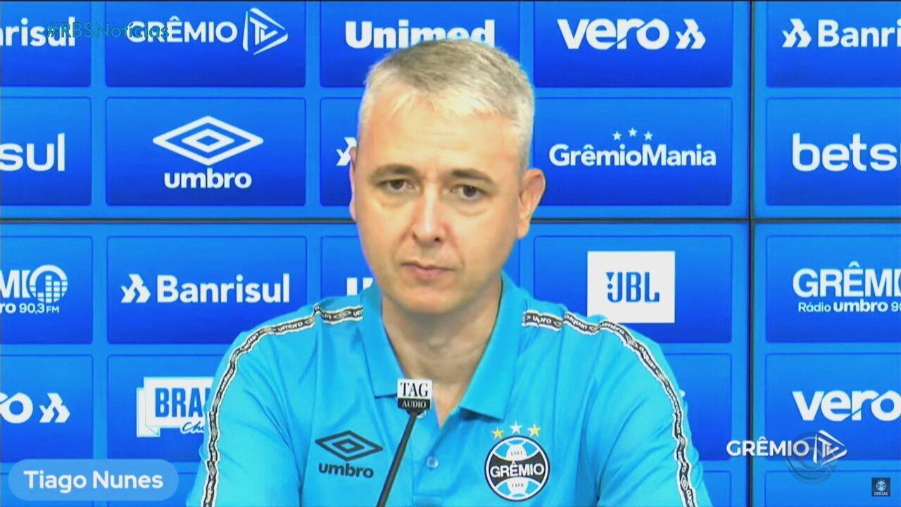 Tiago Nunes é apresentado como novo técnico do Grêmio