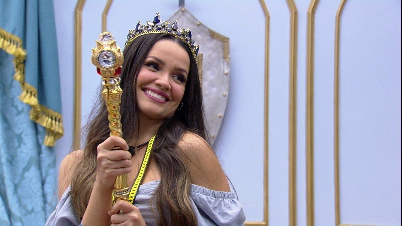 Juliette inaugura Quarto do Líder e exclama ao ver o quadro: 'Estou uma princesa'