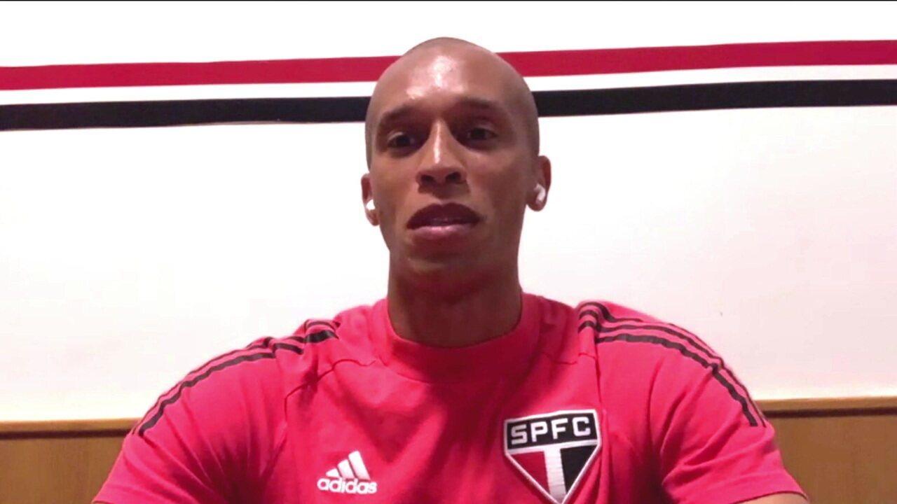 Miranda relembra a primeira passagem pelo São Paulo e diz que torcida tricolor merece títulos