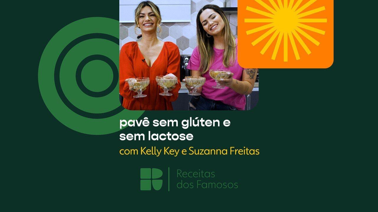 Kelly Key e Suzanna Freitas ensinam a fazer pavê sem glúten e sem lactose