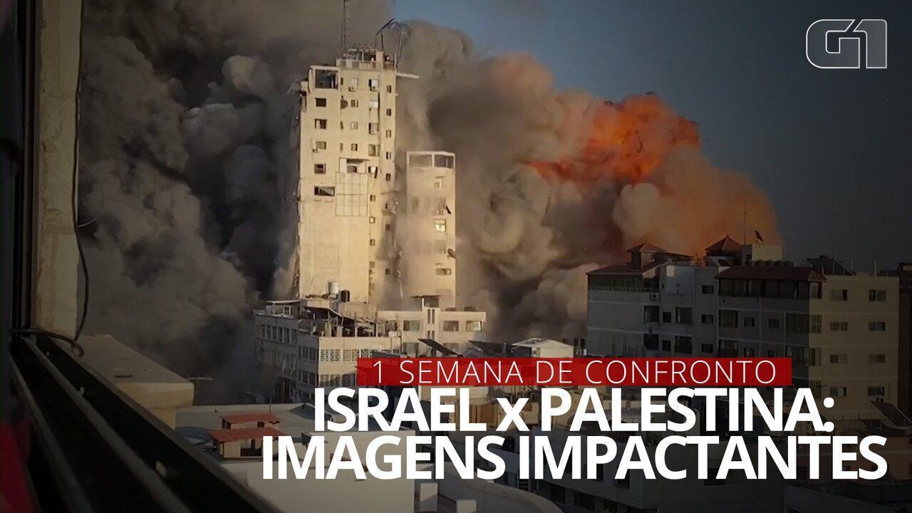 Uma semana de confrontos entre Israel e Palestina: veja imagens marcantes