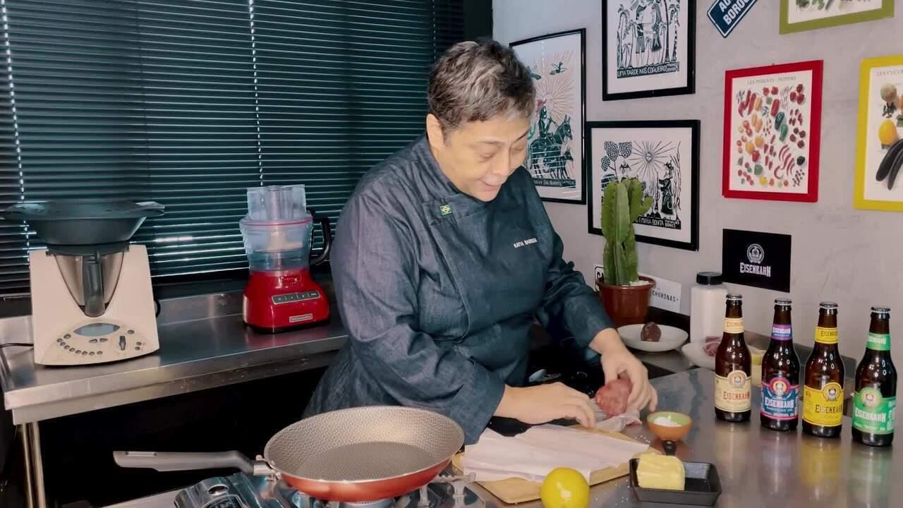 Kátia Barbosa, do 'Mestre do Sabor', prepara Carne de Sol com Molho de Manteiga com Limão