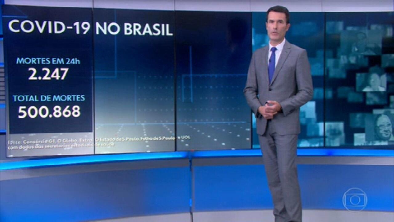 Brasil atinge marca trágica de 500 mil mortes pela Covid