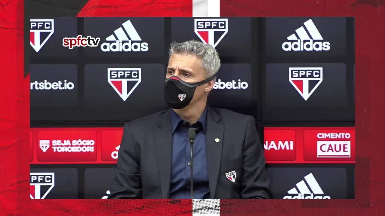 """Crespo pede tempo para reconstruir o São Paulo e diz: """"Não temos dinheiro"""""""