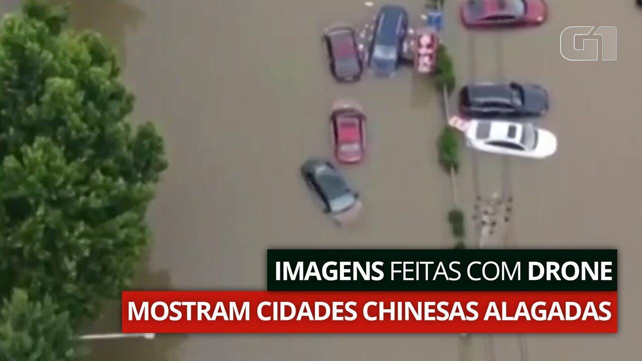 VÍDEO: Chuvas torrenciais provocam alagamento em Zhengzhou, na China