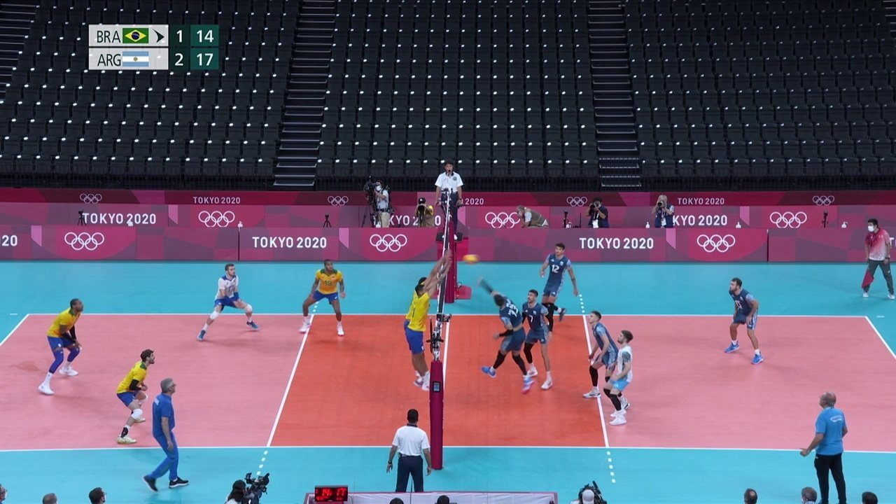 AO VIVO: Vôlei: Brasil (2) 14 x 13 (2) Argentina   globoesporte /  olimpíadas   ge